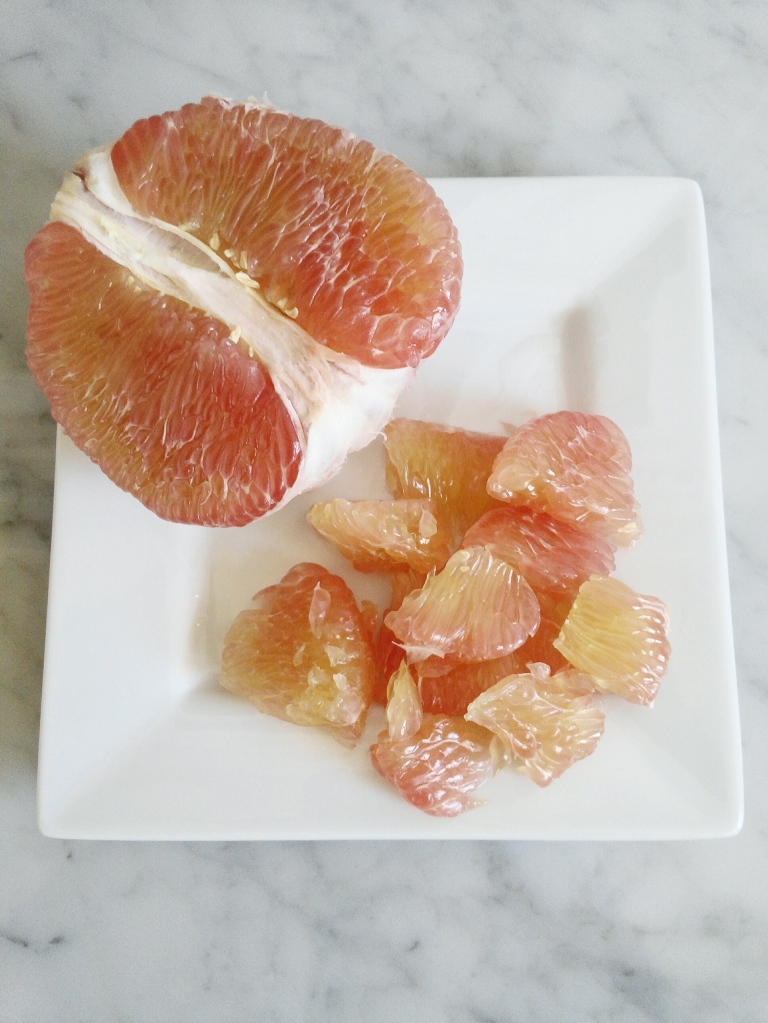 Peeled pomelo photo