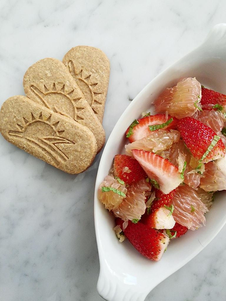 Pomelo strawberry salad photo